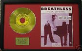 "JERRY LEE LEWIS - 7""Gold Disc &Songsheet -  BREATHLESS"
